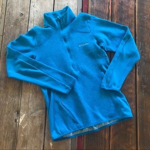 Columbia Omni-Heat Blue 1/4 Zip